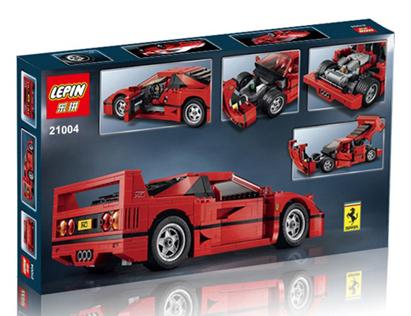 1158+ PCS Building Bricks, LP 21004 Building Blocks Technic 10248 Creator Expert Ferrari F40.