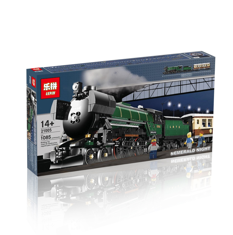 1085+ PCS Building Bricks, LP 21005 Building Blocks Creator 10194 Emerald Night Train.