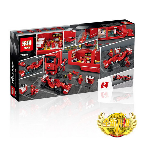 914+ PCS Building Bricks, LP 21010 Building Blocks Speed Champions 75913 F14 T & Scuderia Ferrari Truck.