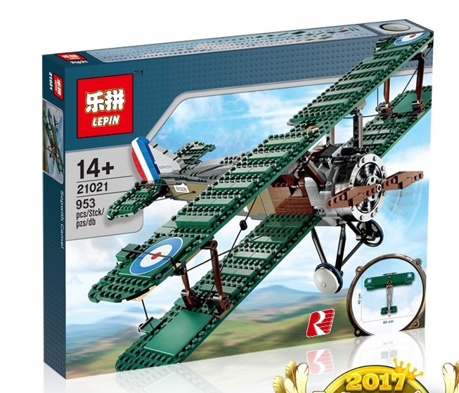 953+ PCS Building Bricks, LP 21021 Building Blocks Ideas 10226 Sopwith Camel.