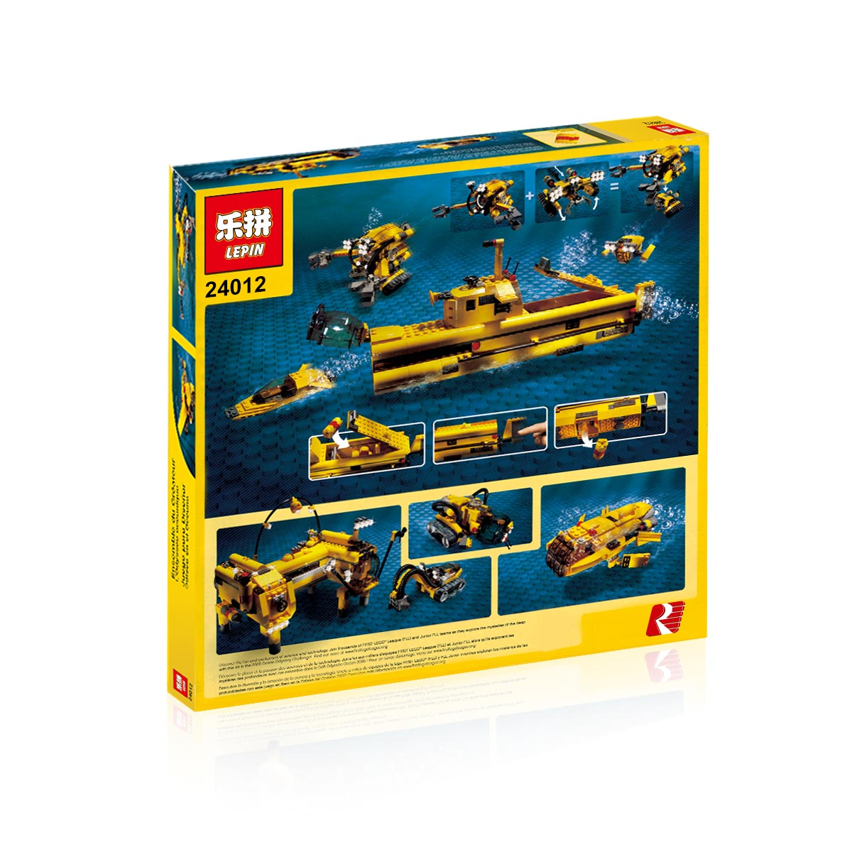 673+ PCS Building Bricks, LP 24014 Building Blocks Designer Sets 4888 Ocean Odyssey.