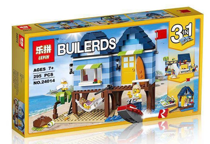 295+ PCS Building Bricks, LP 24014 Building Blocks Creator 31063 Beachside Vacation.