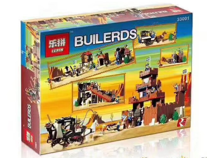 742+ PCS Building Bricks, LP 33001 Building Blocks 6769 Western Cowboys Fort Legoredo.