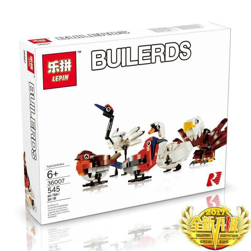 545+ PCS Building Bricks, LP 36007 Building Blocks 4002014 HUB Birds.