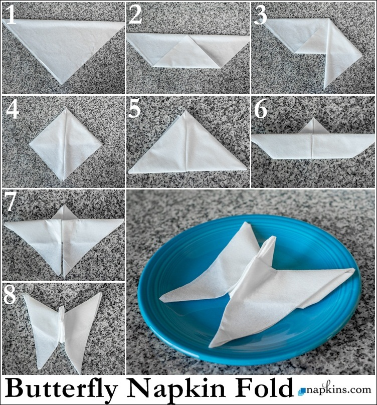 How To Make Table Napkin Designs envelope napkin fold finished with a heart napkin foldingnapkin ringswedding tablewedding Butterfly Napkin Fold
