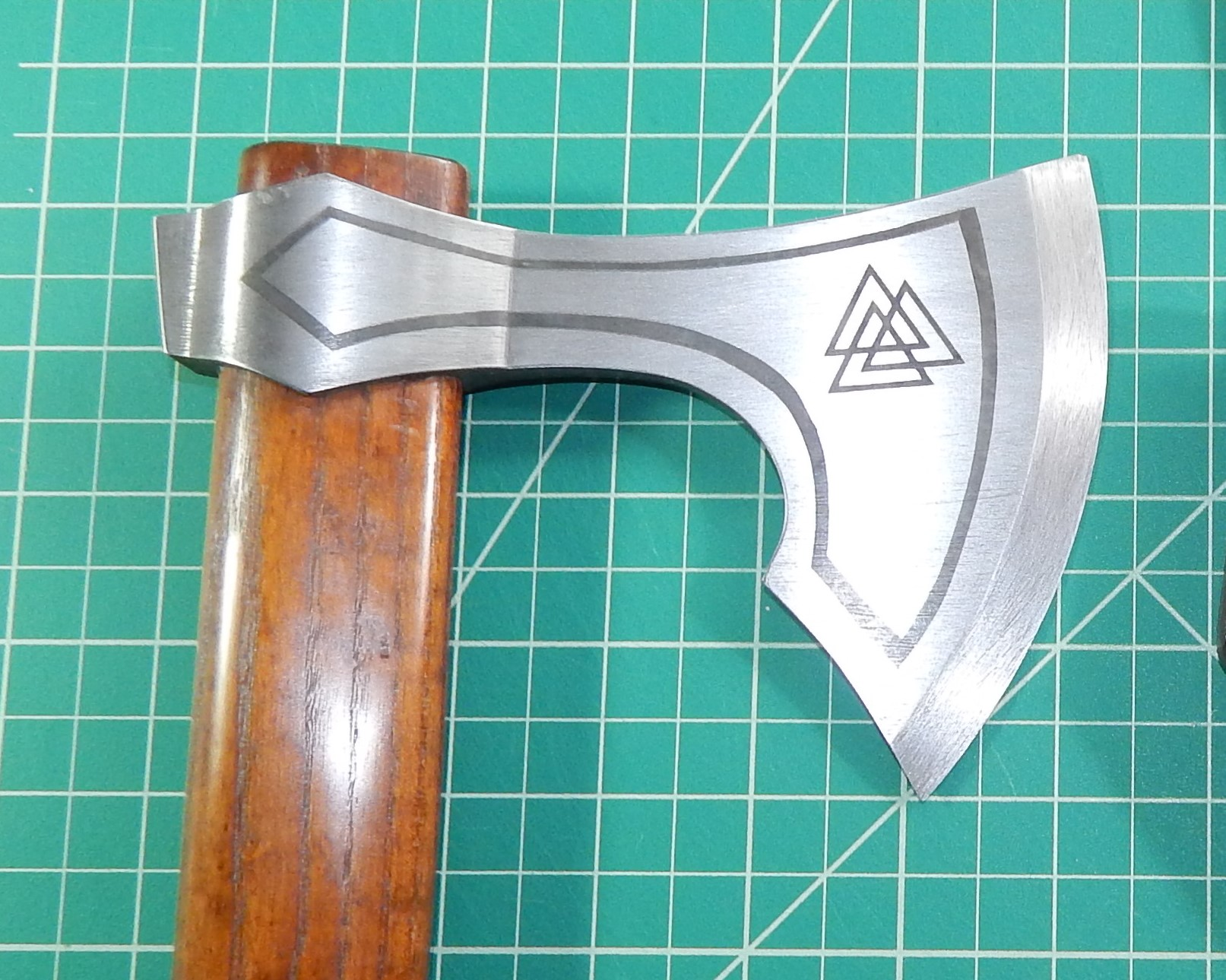 Viking Axe silver finish