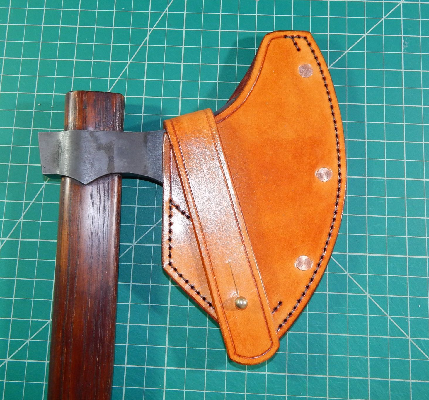 Viking Axe standard sheath with stitching