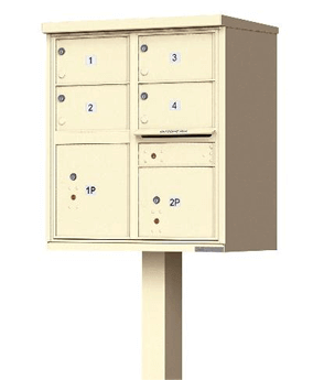 Cbu mailbox with 4 large tenant doors black auth florence for Auth florence