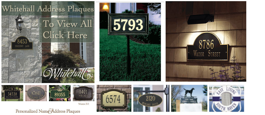All Whitehall Address Plaques