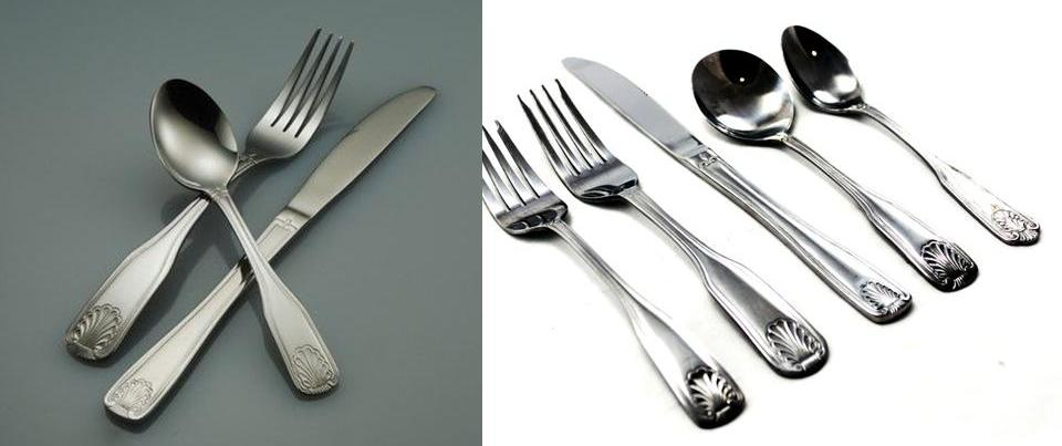 The Same Tableware Shown in 18/0 and in 18/10
