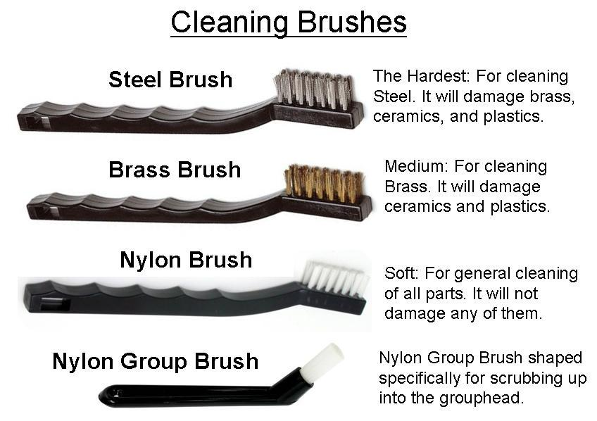 Various Cleaning Brushes and Their Hardnesses