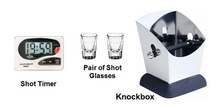 Time and measure your shots. Use a knockbox for used pucks.