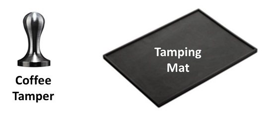 A Coffee Tamper and a Tamping Mat