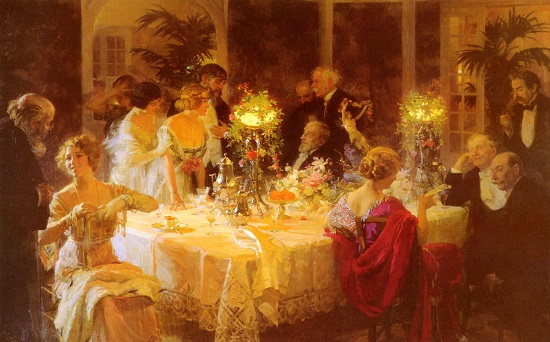 The Dinner Party (Jules-Alexandre Grun, 1911)