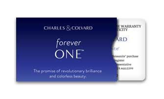 Charles & Colvard Forever One Certificate of Authenticity