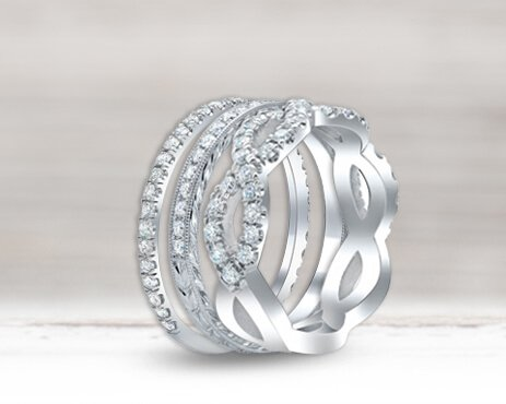 Women's Wedding Bands & Rings