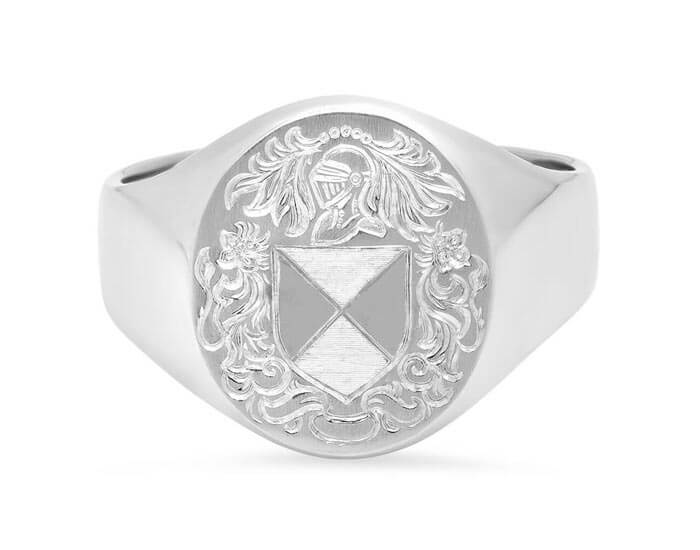 Custom Hand Engraved Monogrammed Signet Ring