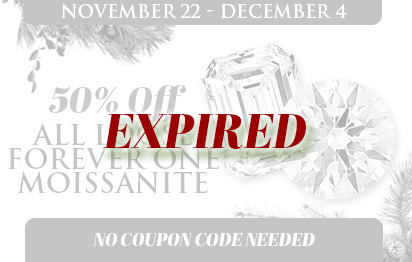 50% off all loose moissanite