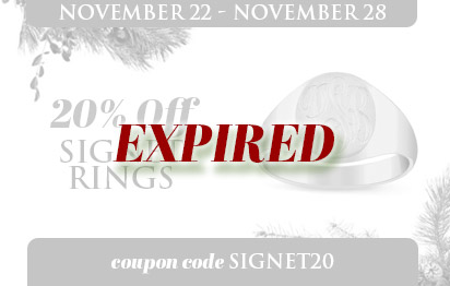 20% off all signet rings