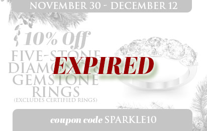 10% Off all 5-Stone Rings