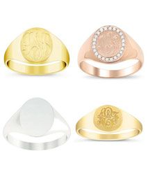 Ladies Signet Rings
