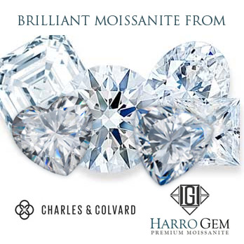Loose Moissanite by Forever One Charles & Colvard and Harro Gem