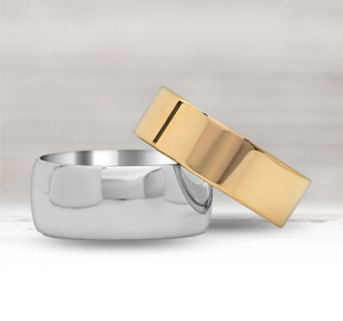 Plain Men's Wedding Bands