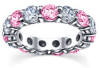 Pink Sapphire and Diamond Eternity Ring