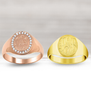 Gold Signet Rings for Women