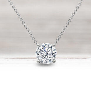 Floating Solitaire Necklaces