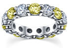 Yellow Sapphire and Diamond Eternity Band