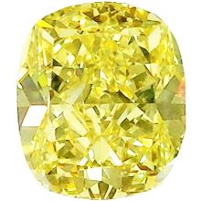 Fancy Yellow Cushion Diamond