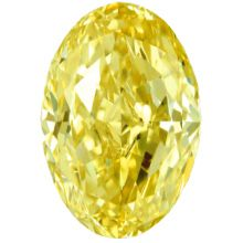 Fancy Yellow Oval Diamond