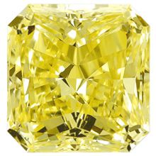 Fancy Yellow Radiant Diamond
