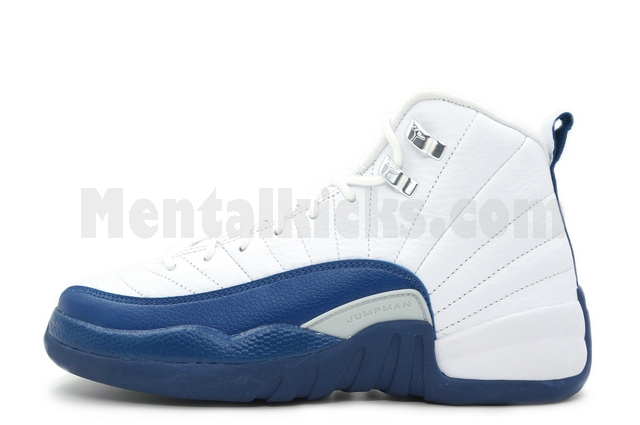0ceb6ae76fe0a9 Mentalkicks.com - nike air jordan 12 retro bg gs french blue 153265-113