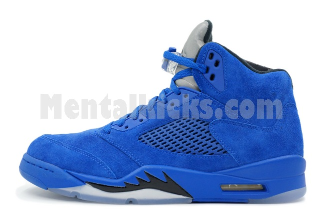 d90bfea3c44c62 Mentalkicks.com - nike air jordan 5 retro game royal blue suede ...