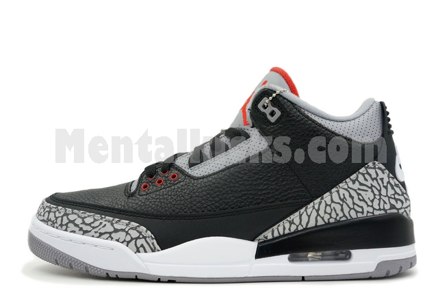 new product 711bc 87ef0 Mentalkicks.com - nike air jordan 3 retro og black cement ...