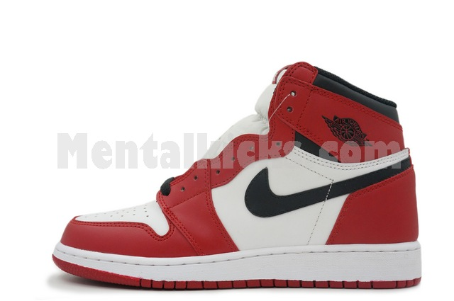 84650f5d4e0933 Mentalkicks.com - nike air jordan 1 retro high og bg gs chicago ...