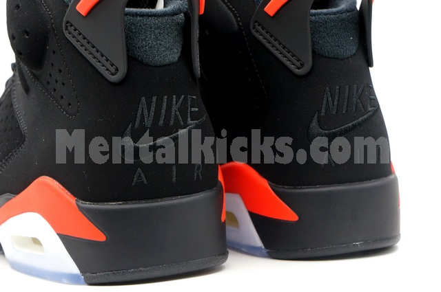 competitive price 31b85 bb155 Mentalkicks.com - nike air jordan 6 retro og black infrared ...