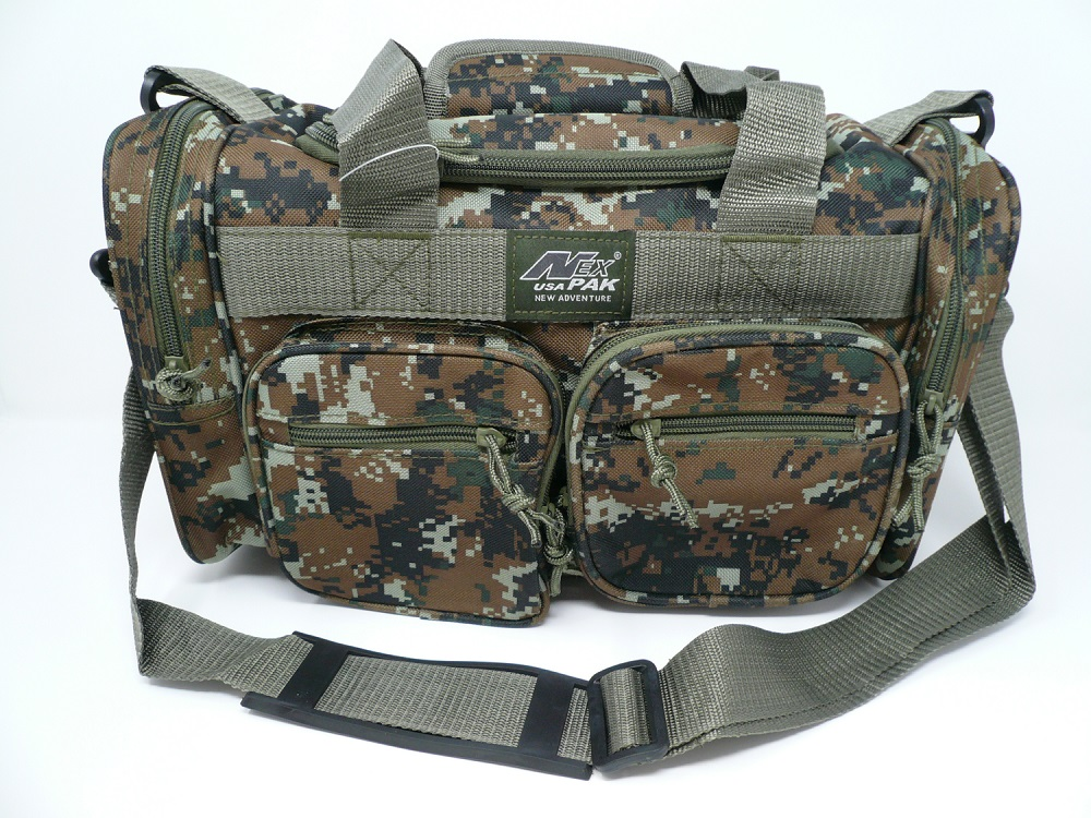 15 inch camo color duffel bag from SafetyKitStore.com