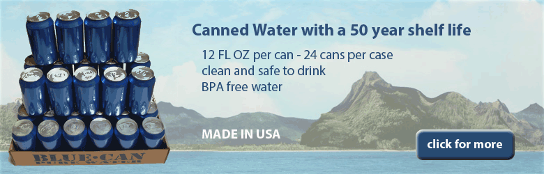50 year shelf life Canned Drinking Water