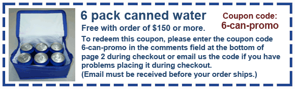 safetykitstore coupon 6 can water
