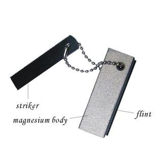 magnesium fire starter with compass