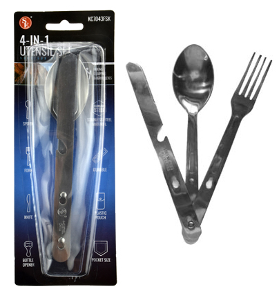 utensil set for camping use