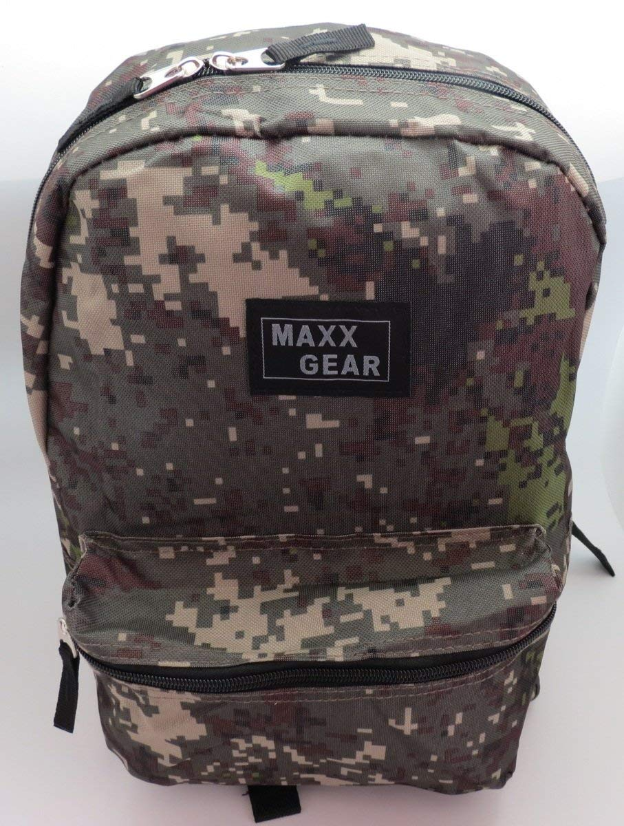 red 18 inch camo backpack from SafetyKitStore.com
