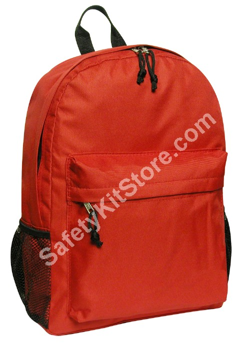 red 18 inch red backpack from SafetyKitStore.com