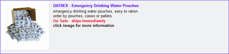 5 year drinking water pouches