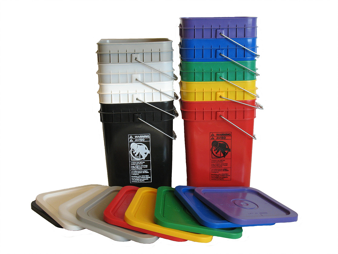 4 gallon pail color options from SafetyKitStore