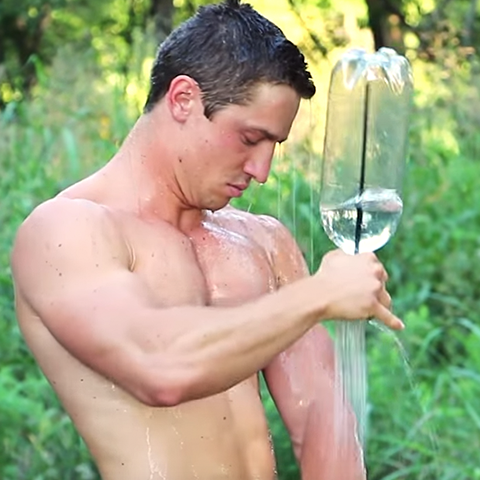Simple Shower bottle shower