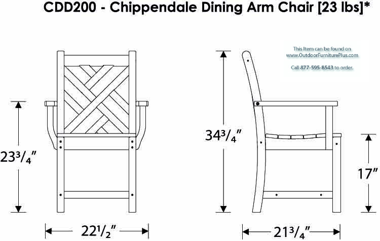 POLYWOOD® Chippendale 4-Seat Dining Set